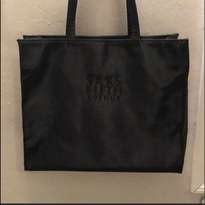 Saks Fifth Avenue Black Tote (new)